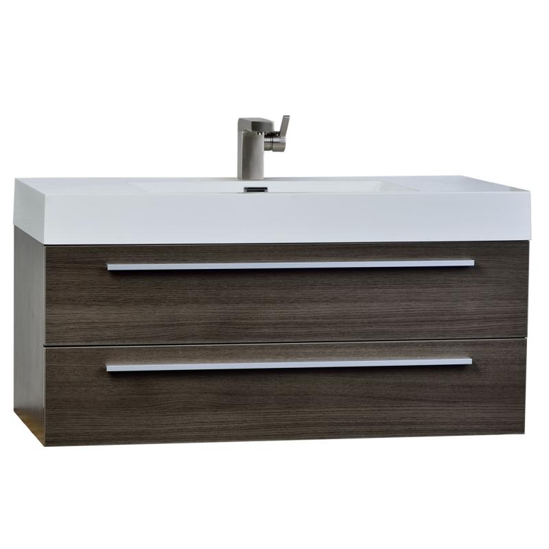 """fresca 39.25"""" Wall-Mount Contemporary Bathroom Vanity Grey Oak TN-T1000-GO"""