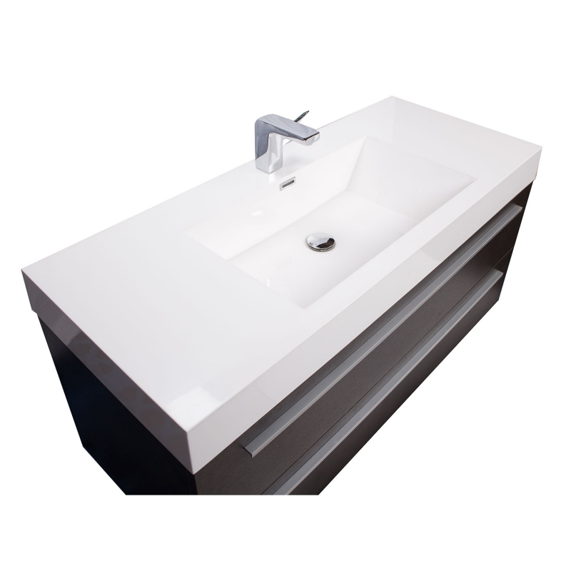 "47"" Wall-Mount Contemporary Bathroom Vanity Espresso Optional Mirror TN-T1200-1-WG - Conceptbaths.com"