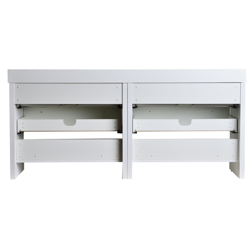 "Mula 71"" Contemporary Double Vanity Set RS-LA1810-HGW"