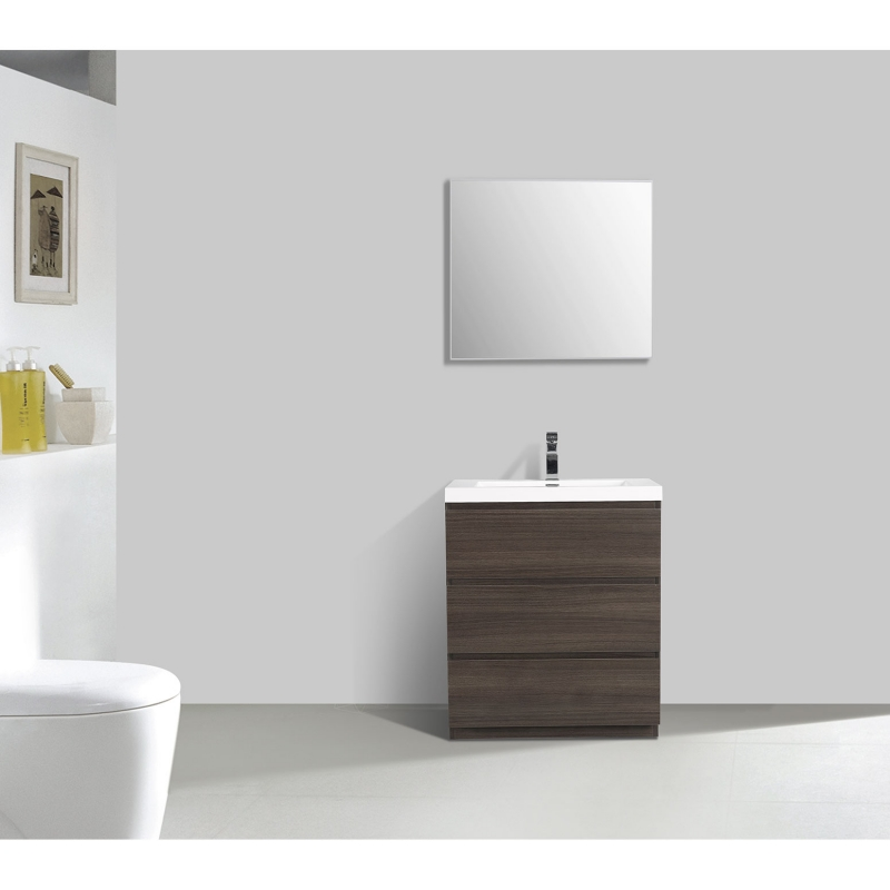 "Edison 23.6"" Single Bathroom Vanity Set in Grey OakTN-ED600-GOEdison 29.5"" Single Bathroom Vanity Set in Grey Oak TN-ED750-GO"