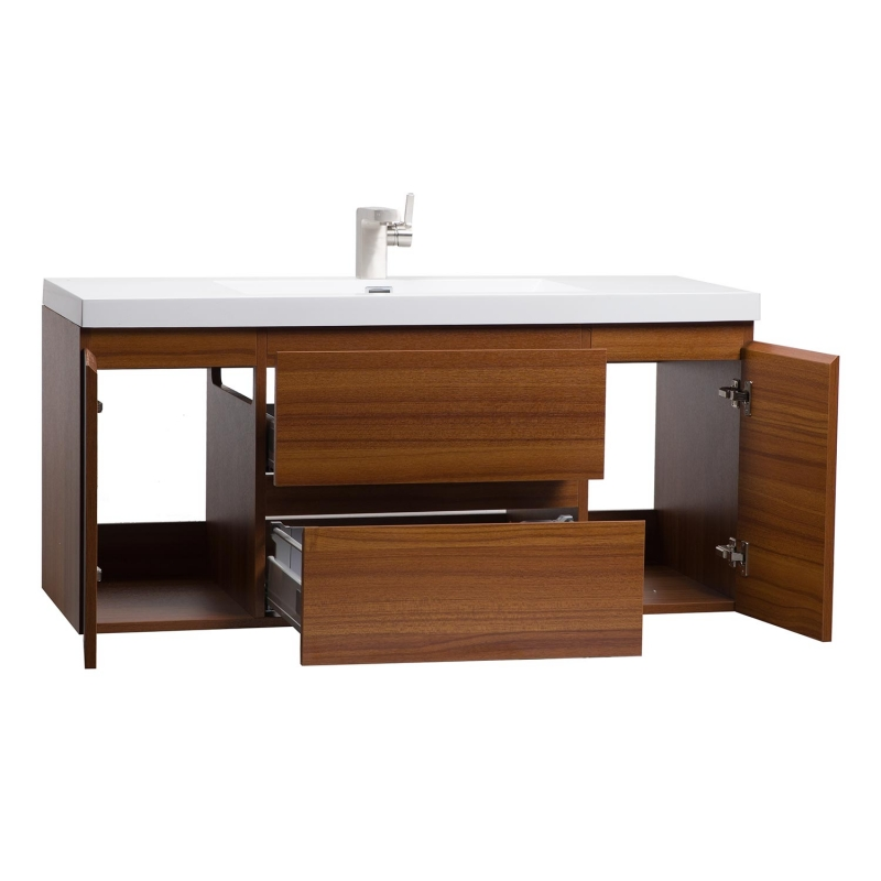 "47"" Angela Wall Mounted Modern Single Vanity Teak TN-AG1200-TK"