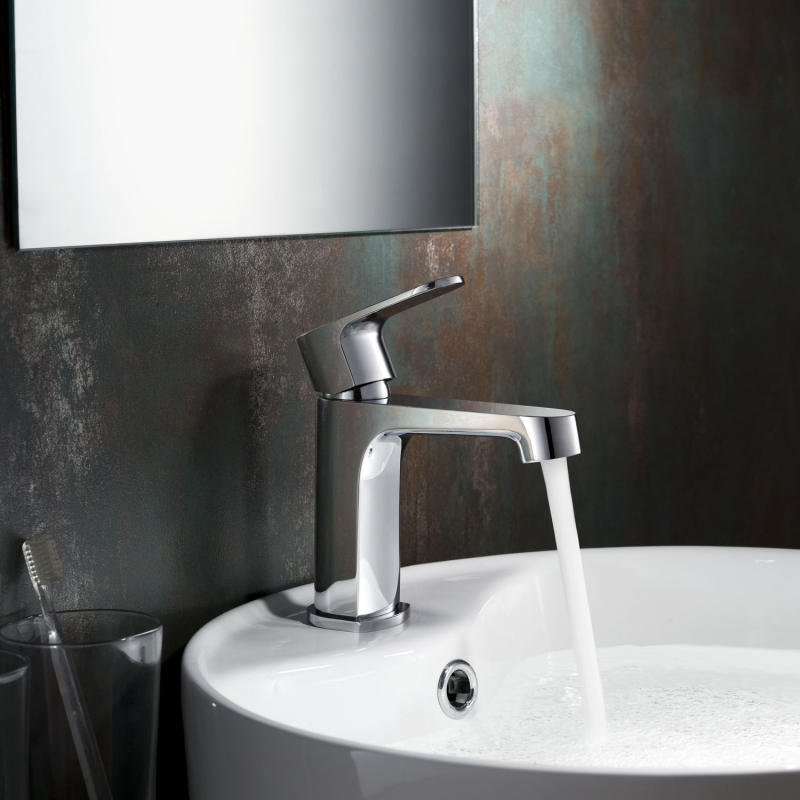 Buy CBI Columbia Single Handle Bathroom Faucet in Brushed Nickel AV-BF04CH on Conceptbaths.com