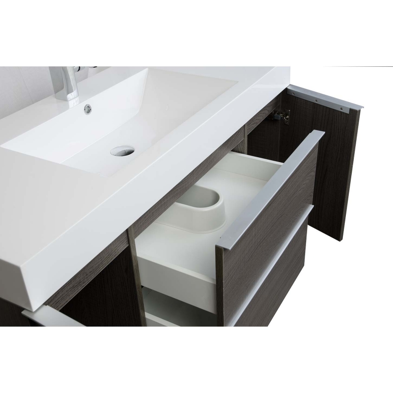 "47.25""  Wall Mount Contemporary Bathroom Vanity  Oak RS-R1200-OAK"