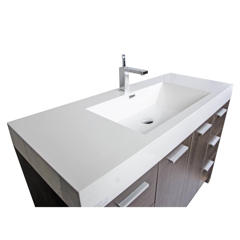 """47.25"""" Modern Bathroom Vanity Grey Oak Finish TN-LY1200-GO"""