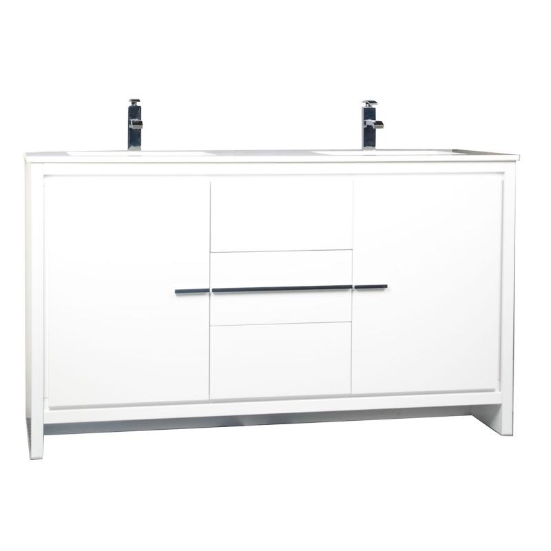 CBI Enna 59 Inch Modern Bathroom Vanity in Metalic Grey TN-LA1510-MG