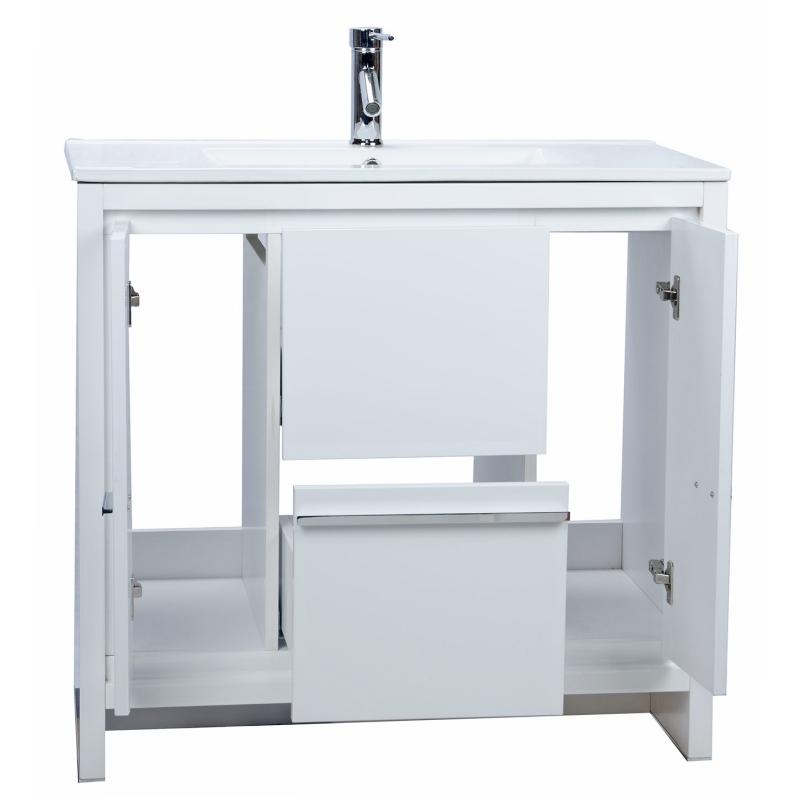 CBI Enna 39.5 Inch Grey Oak Modern Bathroom Vanity TN-LA900-GO