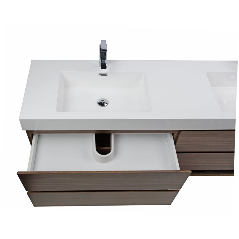 """Buy Angela 71"""" Contemporary Double Wall Mounted Walnut TN-AG1810-WN on ConceptBaths.com , FREE SHIPPING"""