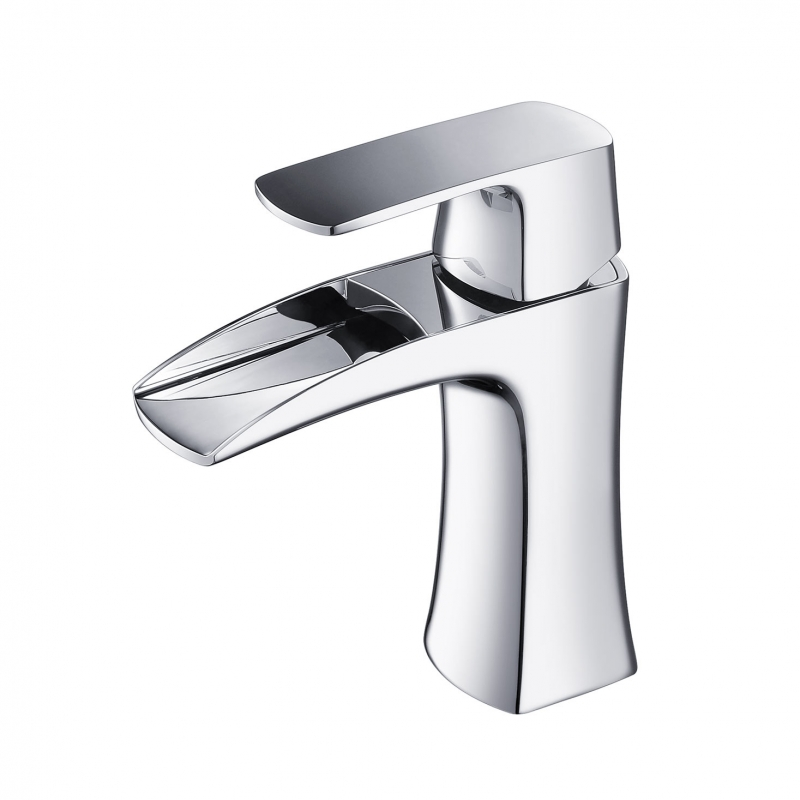 CBI Rainier Single Control Bathroom Waterfall Faucet in Chrome AV-BF02CH