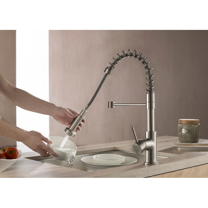 CBI Pull Down Single Handle Kitchen Faucet AV-KF01BN